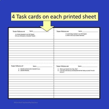 Writing Task Cards for the High School and Middle School Student Set 2