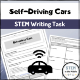 Driverless Cars STEM Writing Task Distance Learning