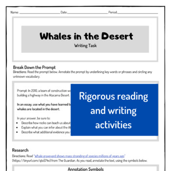 Writing Task - Fossil Record (Earth Science, ESS2.B)