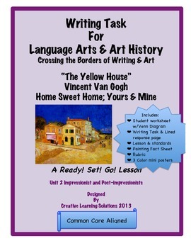 """Comparative Writing Task: Vincent Van Gogh """"Home Sweet Hom"""