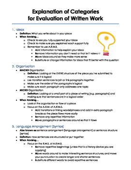 Assessment Rubrics for Writing Tasks (Writing Process, Paragraph, and Essay)