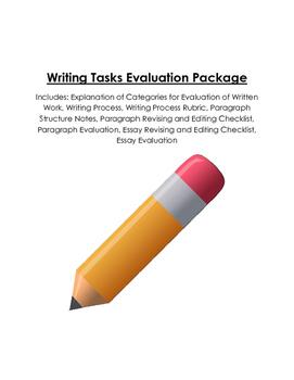 Assessment Rubrics for Writing Tasks (Writing Process, Par