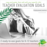 Writing Teacher Evaluation Professional Practice Goals