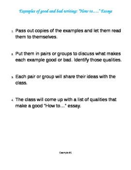 """Writing:  Teaching how to write """"How to..."""" Essays"""