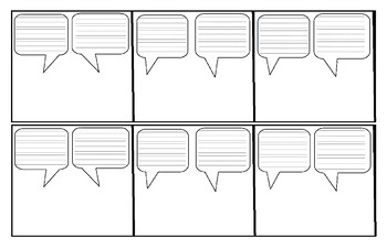 comic strip dialogue template  Writing Template - Comic Strip Cut & Paste- Sample Characters & Dialogue  Bubbles