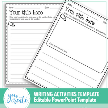 writing activities templates create your own powerpoint
