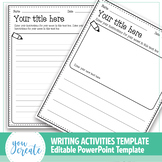 Writing Activities Templates   Create your own   PowerPoin