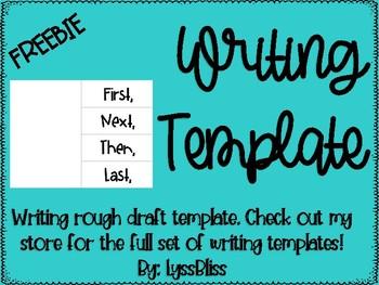Writing Template Foldable FREEBIE