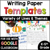 Blank Writing Paper Templates