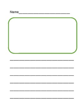 Writing Template for lower elementary