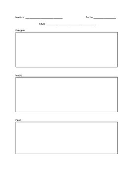Writing Template in Spanish