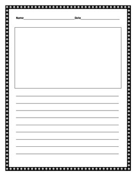 Writing Template with Border