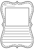 Writing Template /with picture box