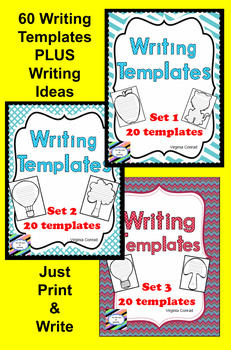 Writing Templates:  60 Ready to Print and Write Pages
