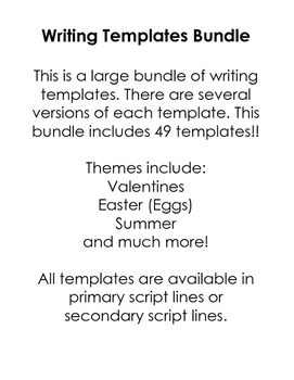 Writing Templates Bundle