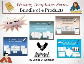 Writing Templates Bundle Newspaper Articles, Letters, Postcards, Comic Strips