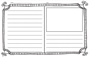 Writing Templates- Large 11 x 17 Posters