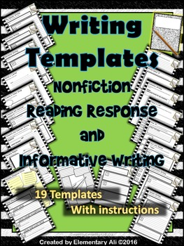 Writing Templates: Nonfiction Reading Response and Informa