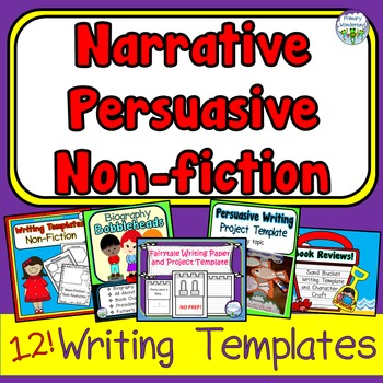 bundle narrative persuasive non fiction writing templates and crafts