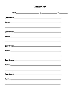 Writing Templates and Outlines