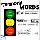 Temporal and Transition Words Anchor Chart for Sequence Writing