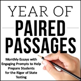 Writing Test Prep Bundle and ELA Paired Passages Bundle {F