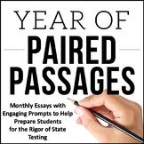 Writing Test Prep Bundle and ELA Paired Passages Bundle  