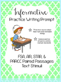 Writing Test Prep- FSA, AIR, STAR, & PARCC