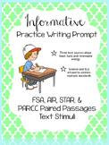 Writing Test Prep- FSA, AIR, STAR, & PARCC