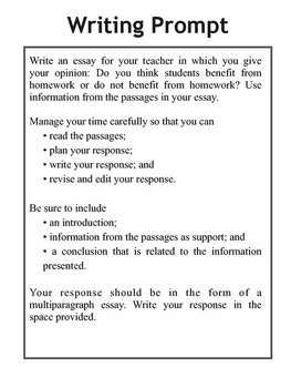 Writing Test Prep - FSA, AIR, STAR, & PARCC Paired Passages {Opinion}
