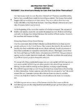 Writing Test Prep Packet - Grade 5