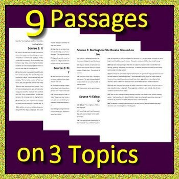 Argumentative Writing with Articles and Informative Writing Passages and Prompts