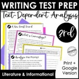 Writing Test Prep | Text-Dependent Analysis | Text-Based W