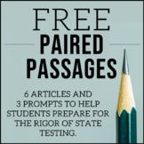 Free ELA Paired Passages for Upper Elementary   Writing Test Prep