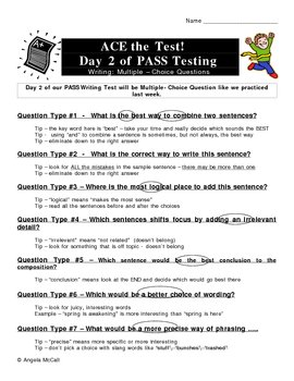 Writing Test Tips -  ACE IT!