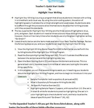 Writing Tests Solved!  Great success in writing essays- Basic Package