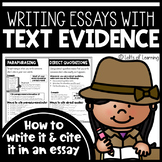 Writing & Citing Text Evidence in Essays | Distance Learning | Homeschooling