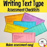 Writing Assessment Checklists