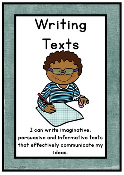 Writing Texts Posters NAPLAN Marking Criteria