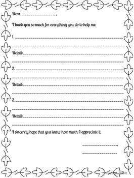 Writing Thank You Cards - Fall Theme