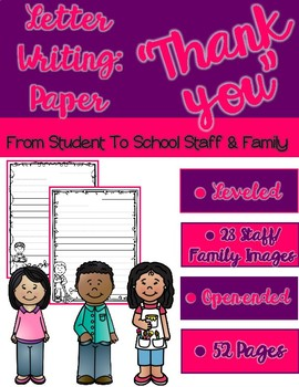 Writing: Thank You Letters to Staff/Teachers