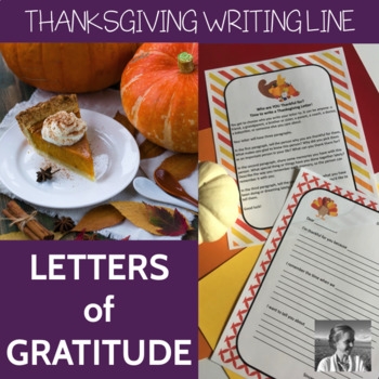 Writing Thanksgiving Letters: ELA 3-6