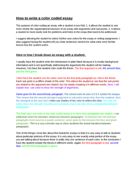 Writing The Colorful Way: Essay