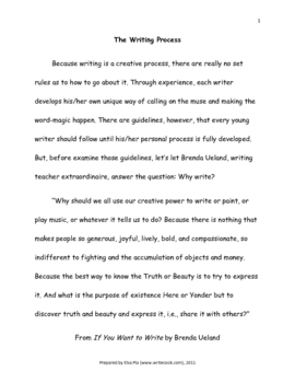 Writing - The Process