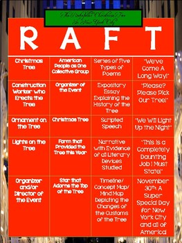 Writing: The Lighting of the Rockefeller Christmas Tree and the RAFT Strategy