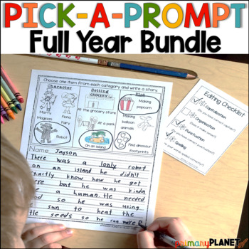 Year Long Growing Writing Prompts Bundle Writing Workshop Centers Journals