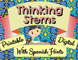 Writing Thinking Stems - Digital Moveable Activity or Prin