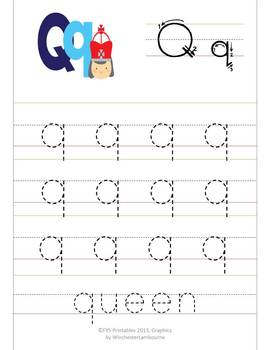 Writing Through the Alphabet, Complete Aa-Zz Pack, 56 sheets