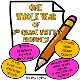 A Year of Paragraph Writing Prompts *Editable*