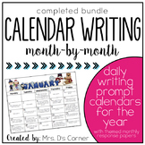 Writing Through the Year { Calendar Writing Prompts } Creative Writing